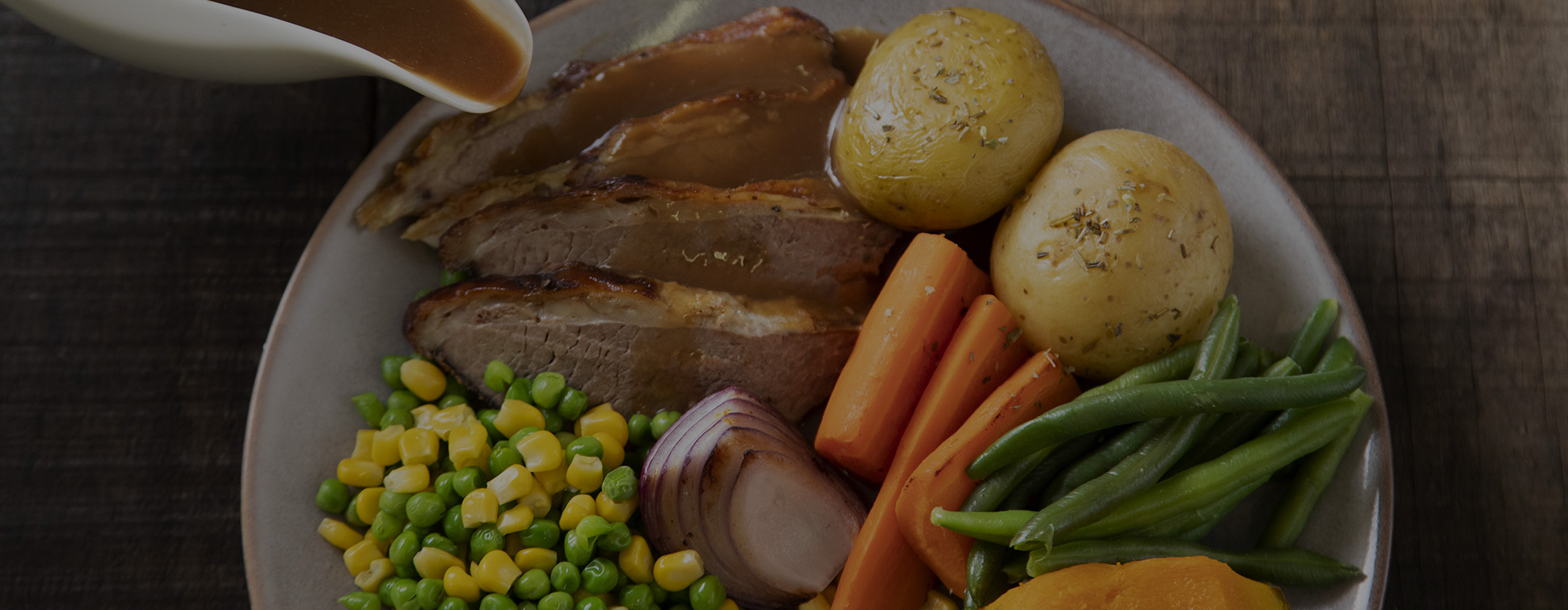Roast Beef Meal with Potatoes